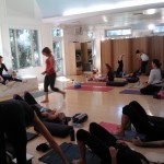 Yogis preparing to practice